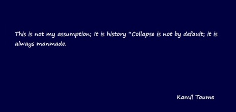 Collapse is not by default, it is always manmade
